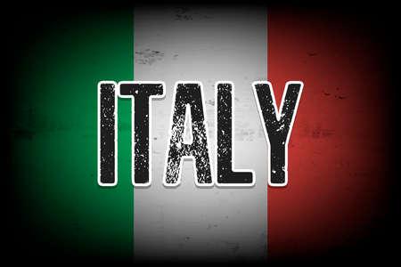 National flag of Italy. Vintage background. Grunge texture. Banner design pattern. Vector illustration