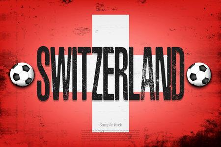 National flag of Switzerland. Vintage background. Grunge texture. Banner design pattern. Vector illustration