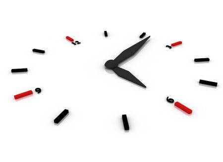 3d illustration of a clock Stock Photo
