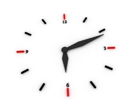 3d illustration of a clock illustration