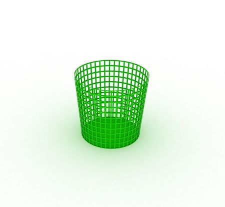 Green recycle bin Stock Photo - 5691322