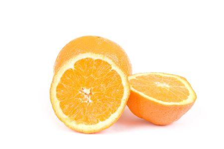 Isolated oranges on white background Stock Photo