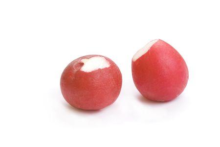 Photo of radishes isolated on white Stock Photo
