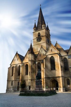 Church under strong light Stock Photo