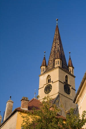 Photo of a church tower Stock Photo