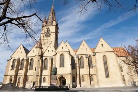 Photo of a big church in Sibiu, Romania