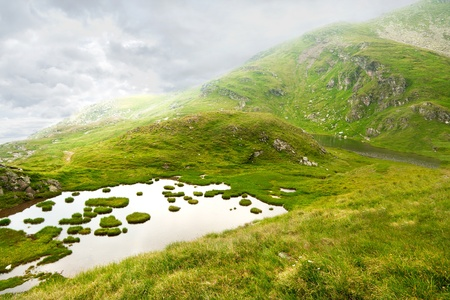 Beautiful landscape high in the Fagaras mountains Stock Photo