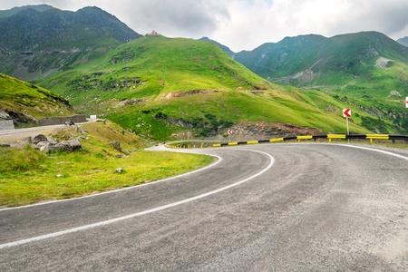 Photo of a mountain road Stock Photo