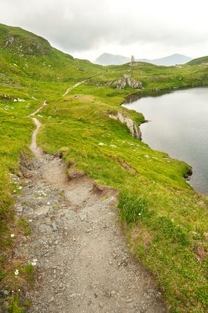 Photo of a mountain path Stock Photo
