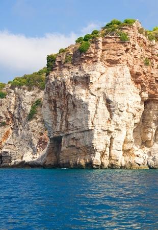 High cliffs near the water