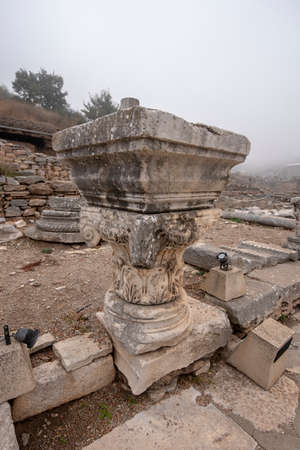 Ephesus, Selcuk Izmir, Turkey - The ancient city of Efes.  an ancient Roman buildings on the coast of Ionia. Most visited ancient city in Turkey