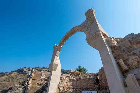 Ephesus, Selcuk Izmir, Turkey - The ancient city of Efes. The UNESCO World Heritage site with an ancient Roman buildings on the coast of Ionia. Most visited ancient city in Turkey