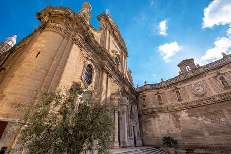 Cathedral Maria Santissima della Madia (Basilica Cattedrale Maria Santissima della Madia) in old town Monopoli, Puglia, Italy. Region of Apulia