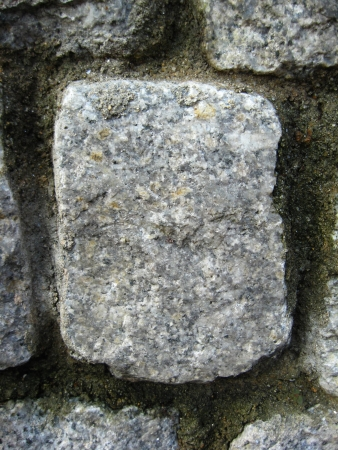 mitzrah: Close Up of Individual Rock in a Gray Wall photo