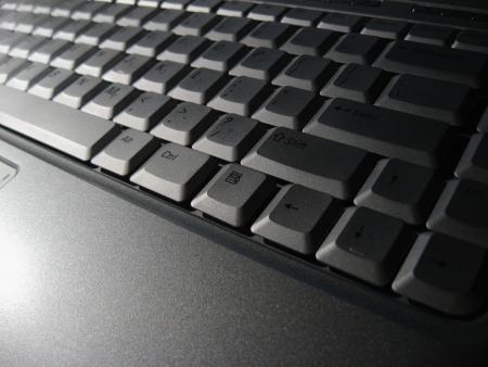 Teclado moderno de la computadora portátil de la computadora - iluminación dramática Foto de archivo - 1787818