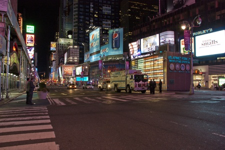 October 2010 - A Deserted Timessquare, New York, USA at Night