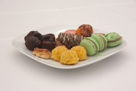 Macarons and Biscuits for Tea Stock Photo - 9595232