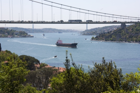 Scenic Landscape Photo of the Bosphorus Strait from Kanlica, Istanbul, Turkey