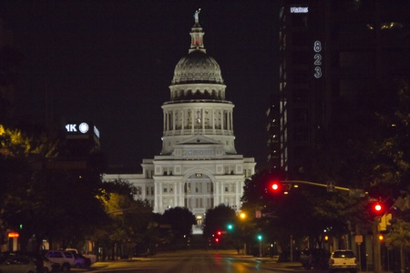 Austin, Texas - Texas State Capitol Building at Night Stock Photo - 11314416