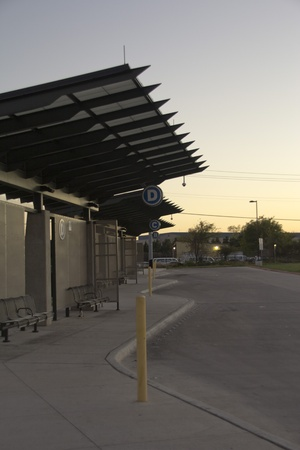 Austin, Texas - Metroline Bus Depot in the Evening Editorial