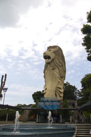 February 2013, Sentosa Island, Singapore - Photo of the Iconic Merlion
