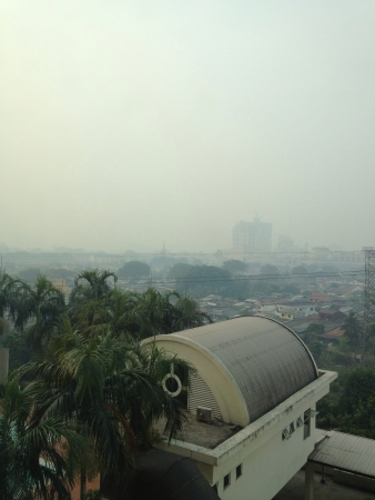 neighboring: Selangor Malaysia 2013 - Open burning activities in Indonesia causes heavy haze and smog in neighboring Malaysia