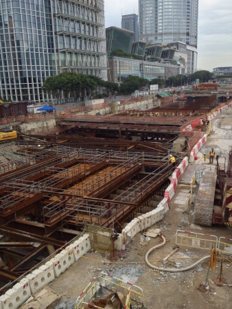 View of a construction site in Hong Kong