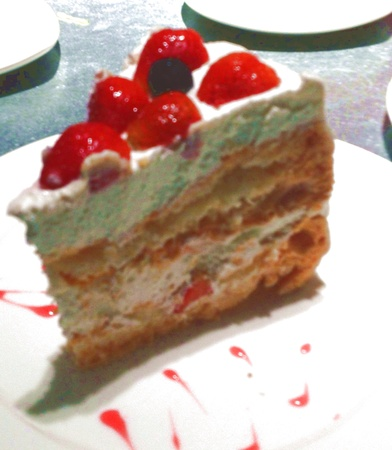 A slice of Pavlova dessert Stock Photo