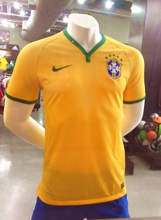 February 2014 - Brazilian Team Official Jersey by Nike is on sale for R 350 Brazillian Reals