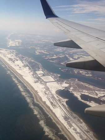 February 2014 - harsh cold weather conditions over New York, USA contributed to numerous flight delays and cancellations
