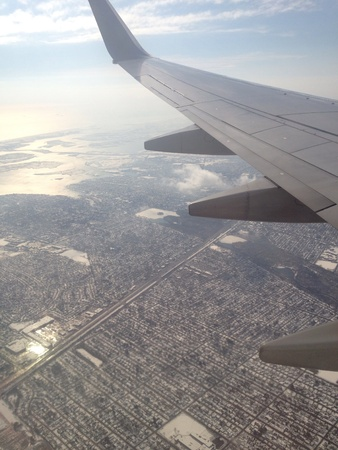 contributed: February 2014 - harsh cold weather conditions over New York, USA contributed to numerous flight delays and cancellations Stock Photo