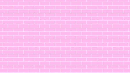 Pink brick wall background backdrop, stock vector graphic illustration Çizim