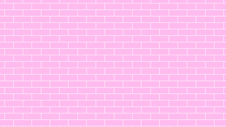 Pink brick wall background backdrop, stock vector graphic illustration Vectores