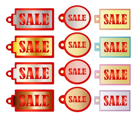 Illustration of sale tags