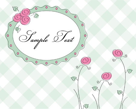 cute rose frame  Vector