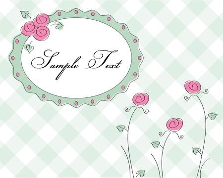 cute rose frame  Illustration