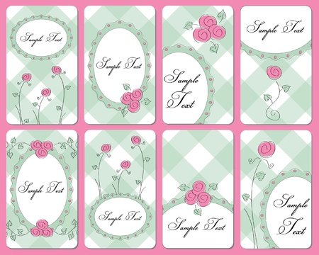 hand drawn rose: cute rose buisness cards