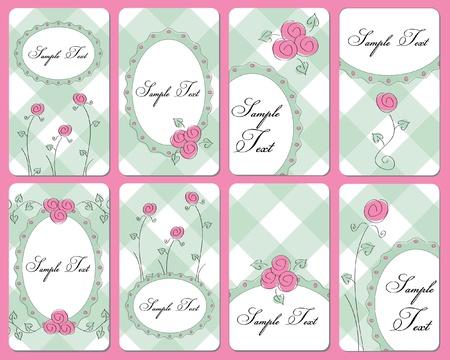 cute rose buisness cards