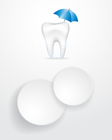 dental infographics background  Illustration