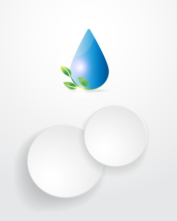 water drops infographics background