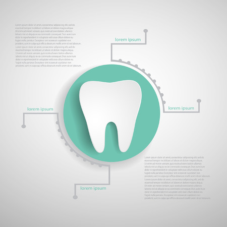 abstract tooth: Medical infographics  EPS 10 file   Illustration