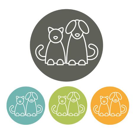 dog: Cat and dog. Infographics element. EPS 10 file.