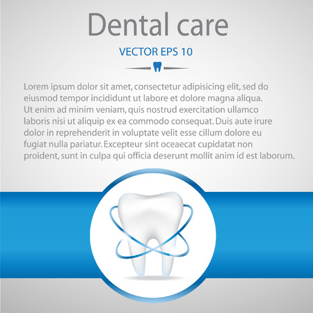 dental care: Realistic tooth. Dental care background.