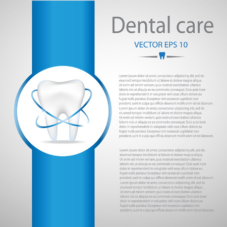 Dental care background.Blue colours.