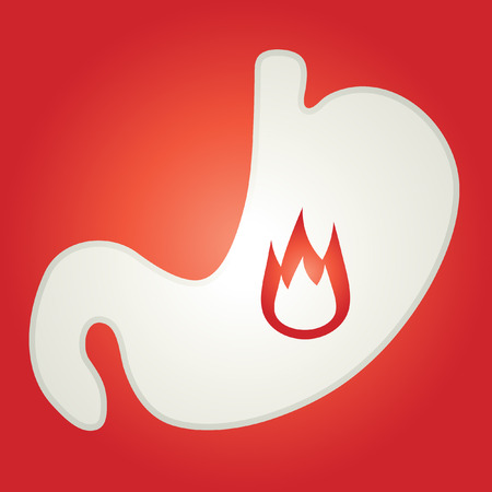 acid reflux: Human stomach. Infographic icon. Illustration