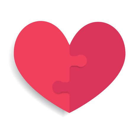 Heart icon with puzzle