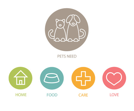 Pats care plan.Infographics.EPS 10 vector file. Illustration