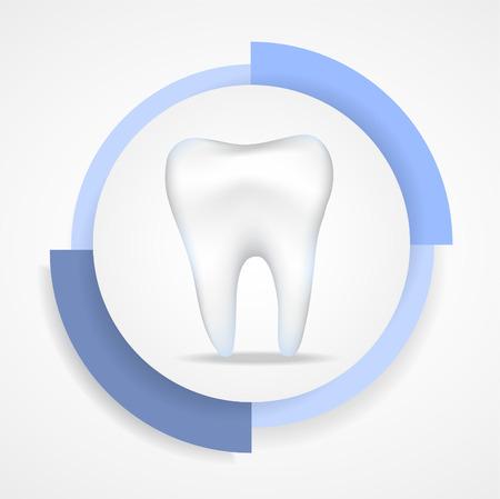 Illustration of dental protecting. Illustration