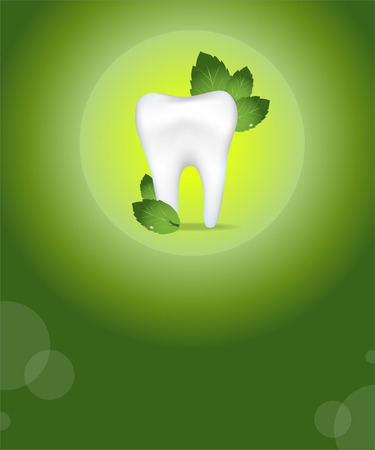 Dental care background.Green colours.