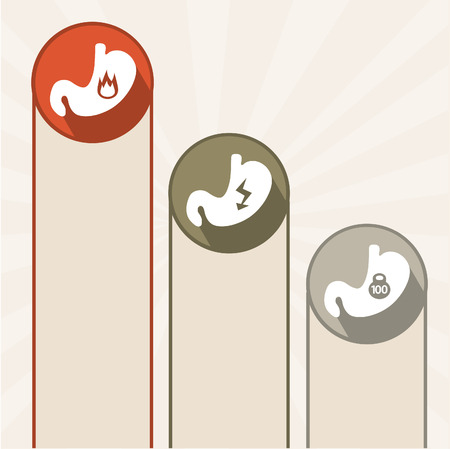Human stomach. Infographics icons.EPS 10 file. Vector